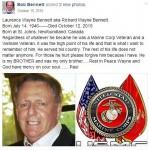 Bob Bennett Laurence Wayne Bennett aka Richard Wayne Bennett Death Facebook Post